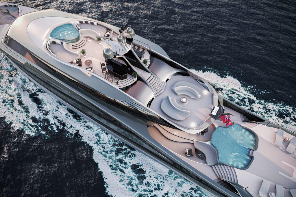 Suepryacht Futura, designed by Vripack