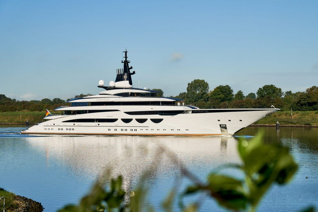 Project Enzo pictured on the Kiel Canal